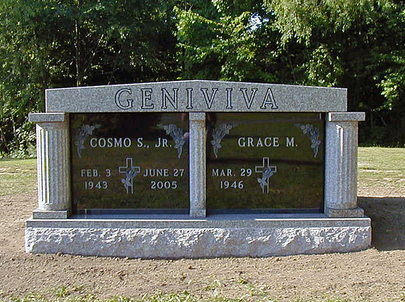 Two Crypt Mausoleum Commissioned By Geniviva Family