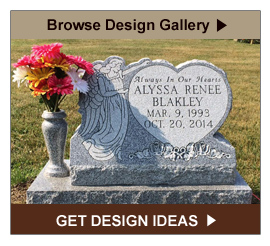 Browse the Monument Design Gallery for Headstone Ideas