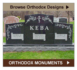 Browse Orthodox Headstone and Grave Marker Designs