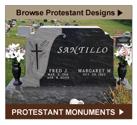 Browse Protestant Monument and Headstone Designs