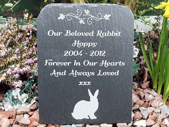 Pet Memorial Ideas For The Garden find this pin and more on miss you personal memorial gardens Rabbit And Bunny Garden Memorial Gravestones