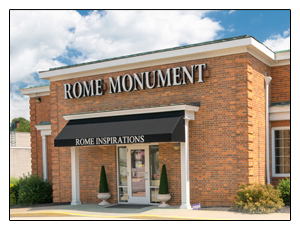 Click on the Picture of the Rome Monument Showroom in Rochester, PA For More Information