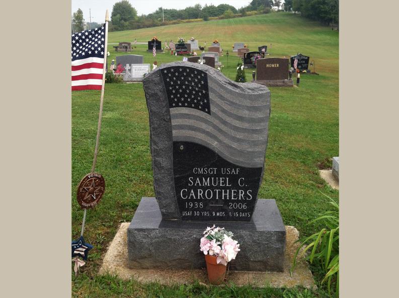 Veteran American Flag Headstone Rome Monument