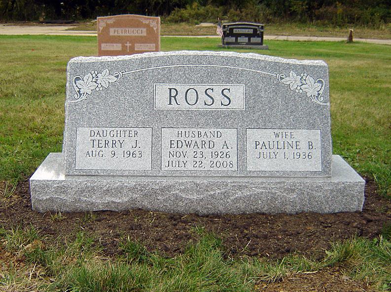 Upright Triple Memorial Headstone Designs For Sale