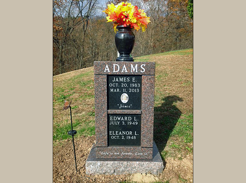 Pictures Of Cremation Monuments Set On Private Property