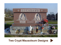 Buy A Two Crypt (Double Or Companion Crypt) Private Family Mausoleum - Design Pictures, Videos and Prices