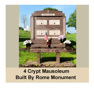 Prices For 4 Crypt Mausoleums Sold By Rome Monument Start At $35,000