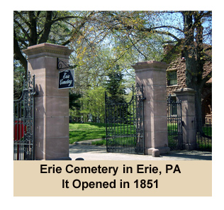 Entrance To Erie Cemetery in Erie, PA