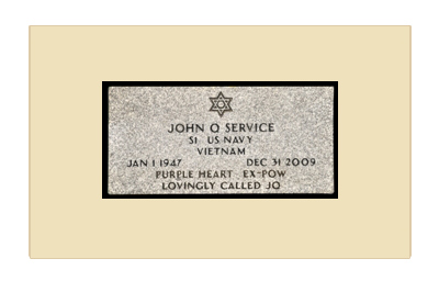 Example of a Flat Granite Grave Marker Provided At No Cost to Veterans by the United States Government