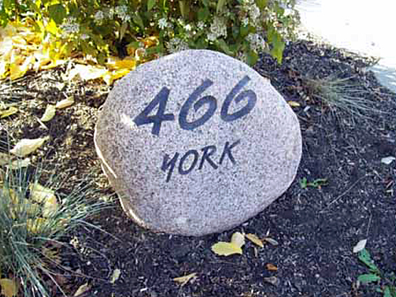 Engraved Stone And Boulder House Numbers | Rome Monut