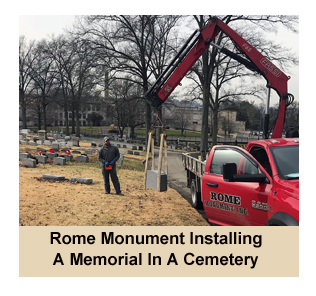 Rome Monument Installing A Monument In A Pennsylvania Cemetery