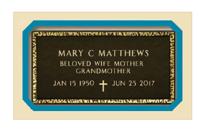 Order a bronze or granite grave marker that matches the design of a veteran's grave marker or U.S. Military headstone for a veteran, spouse or dependent.
