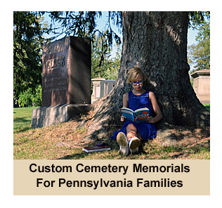 Picture Of Girl Reading A Book In Laurel Hill Cemetery in Erie, Pa