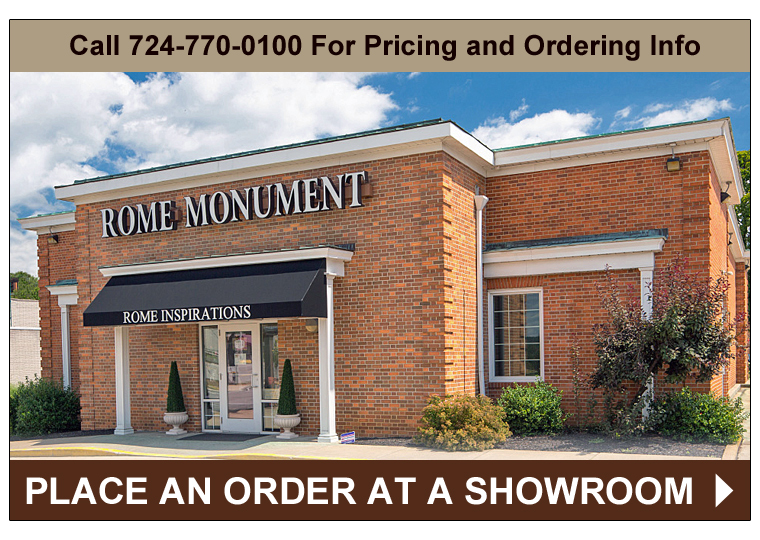 Click on the Image To Get Rome Monument Showroom Location and Contact Information