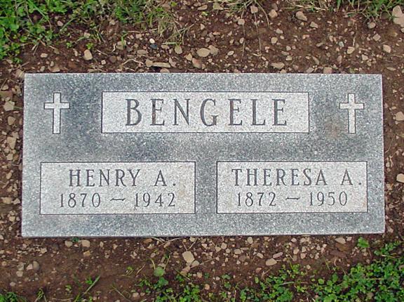 Flat Grave Marker Designed For Bengele Family Rome Monument