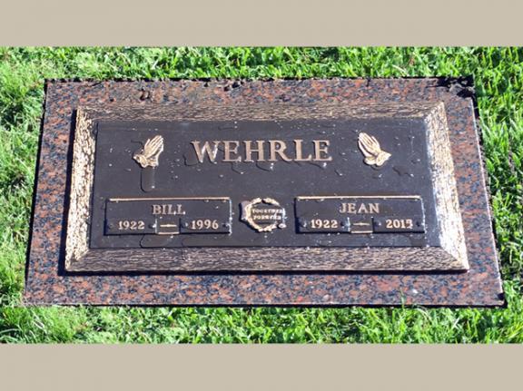 Companion Bronze Headstone Single Grave Rome Monument