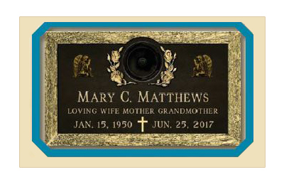 Companion Matching Bronze Military Grave Markers For A Veteran's Spouse