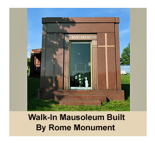 Pictured Here Is A Walk-In Mausoleum Built By Rome Monument - Prices Start At $85,000