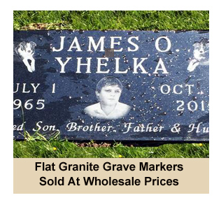 Wholesale Flat, Flush and Lawn Level Granite Gravemarkers