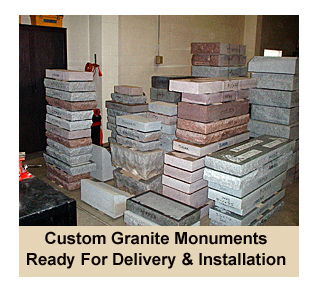 Wholesale Monuments in Warehouse Ready for Delivery and Installation